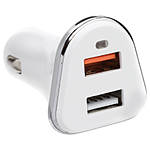 2 Port USB Car Charger 5V 3A