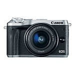 Canon EOS M6 Mirrorless Camera with 15-45mm f/3.5-6.3 IS STM Lens - Silver
