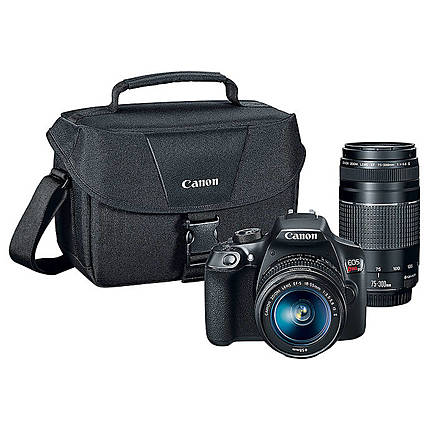 Canon EOS Rebel T6 DSLR with 18-55mm  and  75-300mm Lenses Kit