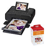 Canon SELPHY CP1300 Compact Photo Printer (Black) with RP-108 Ink/Paper Set