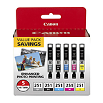 Canon CLI-251 5 Color Ink Value Pack