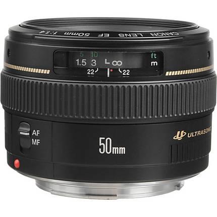 Canon EF 50mm f/1.4 USM Medium Telephoto Lens - Black