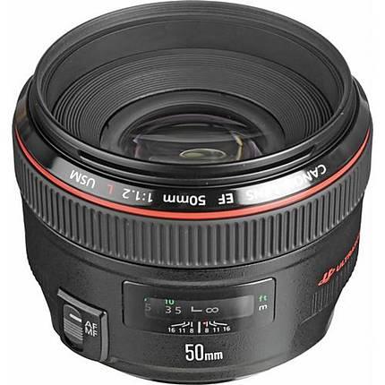 Canon EF 50mm f/1.2L USM Medium Telephoto Lens - Black