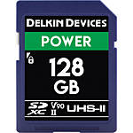 Delkin Devices 128GB Power SDXC UHS-II V90 300MB/s Read 250MB/s Write