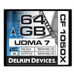 Delkin Devices 64GB 1050X Compact Flash UDMA 7 Prime Memory Card