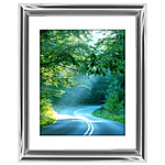 12x18 Custom Silver Metal Frame, White Mat with Glass
