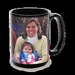 15 oz Black Ceramic Mug