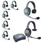 Eartec HUB7SMXS UltraLITE 7-Person HUB Intercom with Max 4G Single Headset