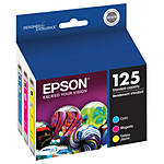 Epson 125 Standard-Capacity Color Ink Cartridge Multi-Pack