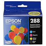 Epson 288 DURABrite Ultra Black and Color Combo Ink Cartridge Set