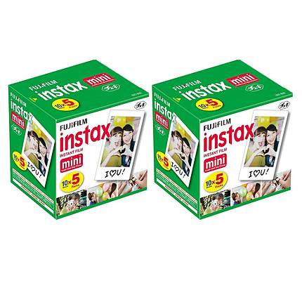Fujifilm Instax Mini Film Ten Pack (100 exposures)  10-SINGLE PACKS