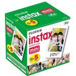 Fujifilm Instax Mini Film Five Pack (50 Pictures) 5-SINGLE PACKS