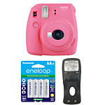 Fujifilm Instax Mini 9 Flamingo Pink Camera with Batteries  and  Battery Charger