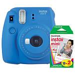 Fujifilm Instax Mini 9 Cobalt Blue Camera with Mini Film Twin Pack