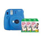 Fujifilm Instax Mini 9 Cobalt Blue Camera with Three Mini Film Twin Packs