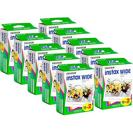 Fujifilm Instax Instant Wide Film 10x Twin Packs (200 Pictures)