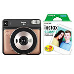 Fujifilm SQUARE SQ6 Instant Film Camera (Blush Gold) with Twin Pack Film