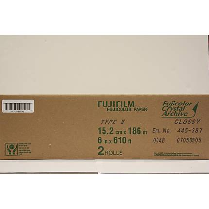 Fujifilm 6 In. x 610 Ft. Paper Crystal Archive Type II Glossy (Roll)