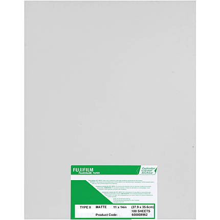 Fujifilm Crystal Archive Paper Type II 8x10 (100 Sheets) Matte