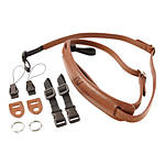 4v Lusso Tuscany Leather Slim Neck Camera Strap - Brown and Brown
