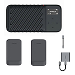 GNARBOX 2.0 SSD (512GB) Rugged Backup Device w/2x Batteries, CFast Reader,  and