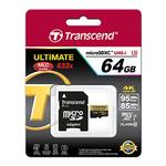 Transcend 64GB Ultimate UHS-I microSDXC Memory Card (Class 10)