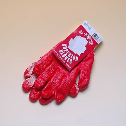 Red Palm Knit Gloves All Purpose Work Gloves (Brands Vary)