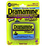 Dramamine Kids Chewable 8ct Grape Motion Sickness Med (ONLY 7/19 EXPIRATION)