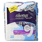 Always Discreet 20ct Regular Incontinence Pads
