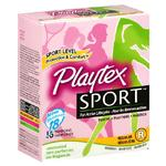Playtex Sport Tampons 18ct Regular Unscented Unique Contour Applicator