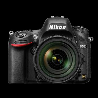Nikon D610 24.3 MP CMOS Digital Camera with 28-300mm Lens-Black
