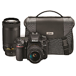 Nikon D7500 DSLR Camera with 18-55mm  and  70-300mm Lenses Kit
