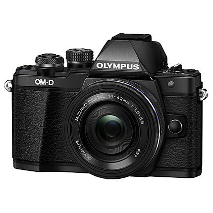 Olympus OM-D E-M10 Mark II Black Body with 14-42mm Black EZ Lens