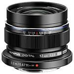 Olympus M.Zuiko Digital ED 12mm f/1:2.0 Wide Angle Lens - Black