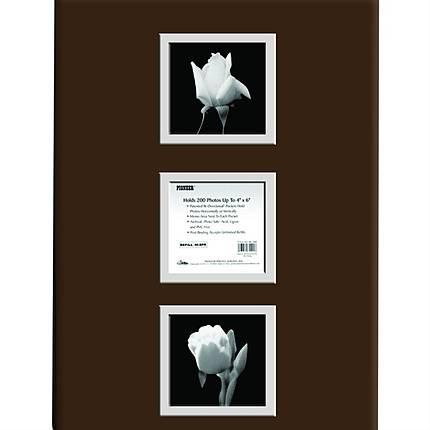 Pioneer Post Bound Bi-Directional Photo Album (200 4x6 photos) - Brown