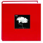 Pioneer 4 x 6 In. Fabric Frame Bi-Directional Photo Album (200 Photos) - Red