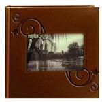 Pioneer 4 x 6 In. Embossed Leather Frame Photo Album (200 Photos)-Brown