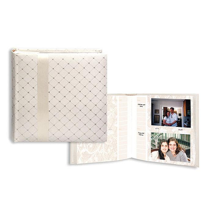 pioneer 4 x 6 in wedding ribbon photo album w diamond accents