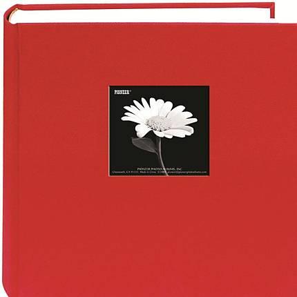 Pioneer 5x7 Cloth Frame Photo Album (200 Photos) - Red