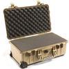 Pelican 1510LFC Water Tight / Foam Hard Case W/ Lid Organizer (Desert Tan)