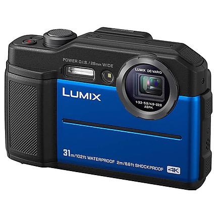Panasonic Lumix DC-TS7 Waterproof Digital Camera (Blue)