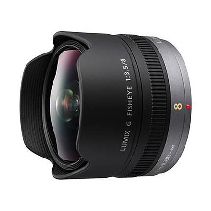 Panasonic Lumix G 8mm f/3.5 Fisheye Lens for DMC-GX7, DMC-GM5 - Black