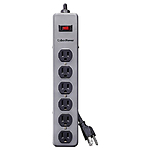 CyberPower CSB606M Surge Protector 6-Outlet 6Ft 900 Joules Metal Housing