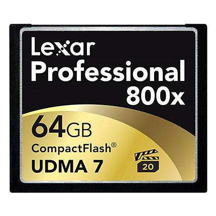 Lexar 64GB Professional 800x Compact Flash Card