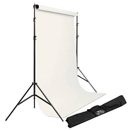 Savage Background Port-A-Stand with Case and White #50 backround