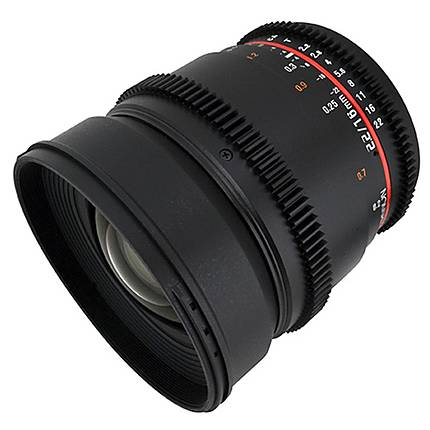 Rokinon 16mm T/2.2 Cine Wide Angle Lens for Canon EF - Black