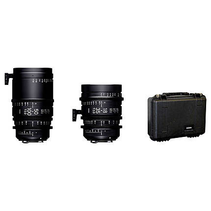Sigma 18-35mm T2  and  50-100mm T2 Lenses with Case (PL)