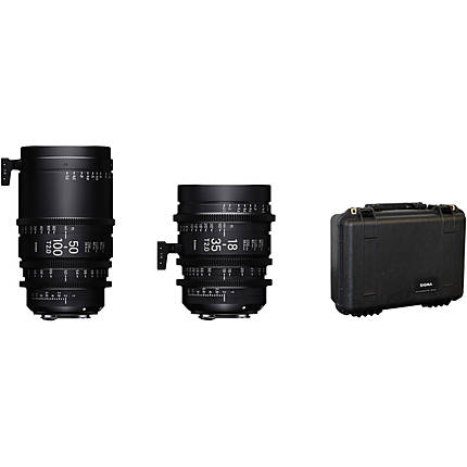 Sigma 18-35mm T2  and  50-100mm T2 Lenses with Case (Sony E, Metric)