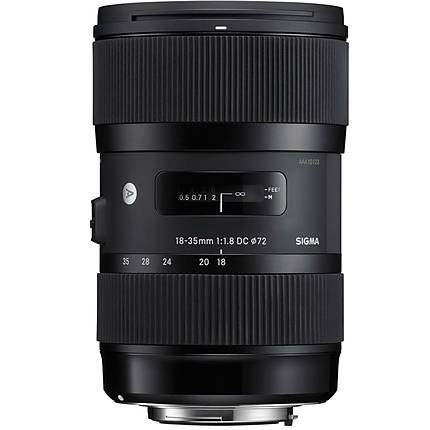 Sigma DC HSM ART 18-35mm f/1.8 Standard Zoom Lens for Canon Mount - Black