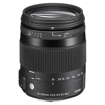 Sigma DC Macro OS HSM 18-200mm f/3.5-6.3 Telephoto Lens for Pentax - Black